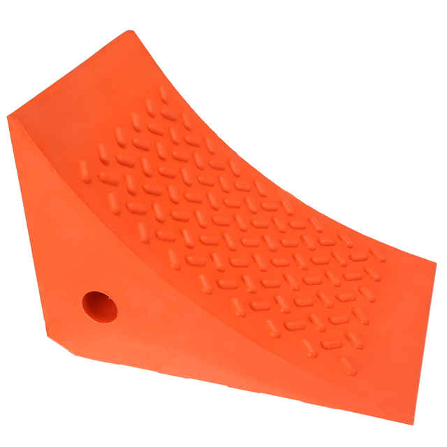 """10"""" Rubber Double-Sided Wheel Chock with Eye Bolt"""