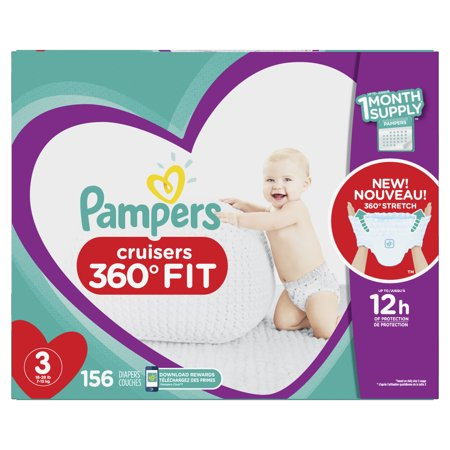 Pampers Cruisers 360˚ Fit Diapers Size 3 156