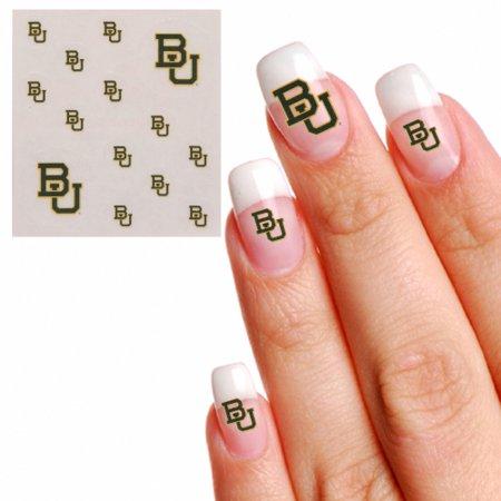 Baylor Bears Waterless Fingernail & Face Tattoos - No Size - Bear Paw Print Tattoo