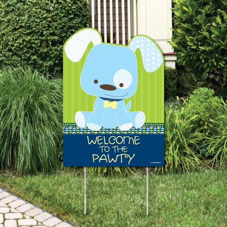 Boy Puppy Dog - Party Decorations - Birthday Party or Baby Shower Welcome Yard - Puppy Dog Birthday Decorations