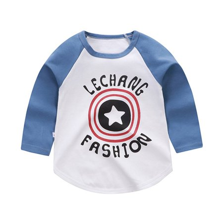 Children Clothing Boy Girl Shirt Korean Baby T Shirt Cotton Top Colorblock Walmart Canada