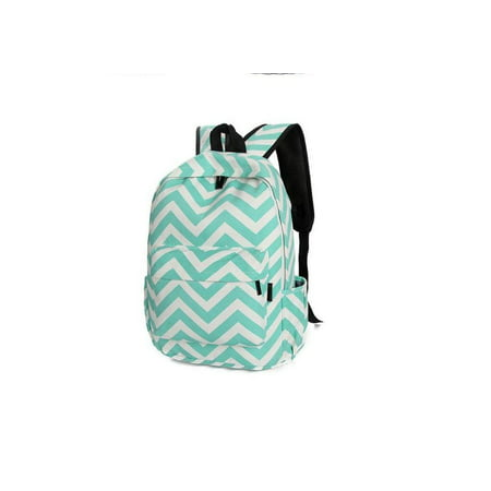 Chevron Backpack With School Supplies In Pouch   Blue