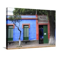Frida Kahlo Museum, Coyoacan, Mexico City, Mexico, North America Stretched Canvas Print Wall Art By Wendy Connett