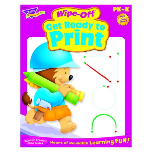 Trend Pk-k Get Ready To Print Wipe-off Book Education Printed Book - 28 Pages (tep-94119)