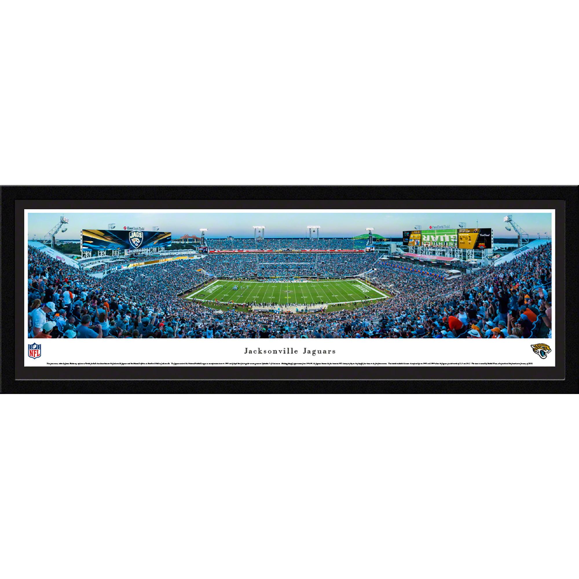 Jacksonville Jaguars 50 Yard Line At Everbank Field Blakeway Panoramas Nfl Print With Select Frame And Single Mat Walmart Com Walmart Com