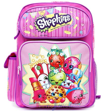 Backpack   Shopkins   Pink Large School Bag 16  New 415074