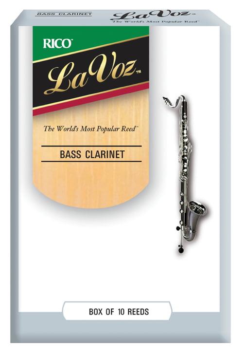 La Voz Bass Clarinet Reeds, Strength Hard, 10-pack by La Voz