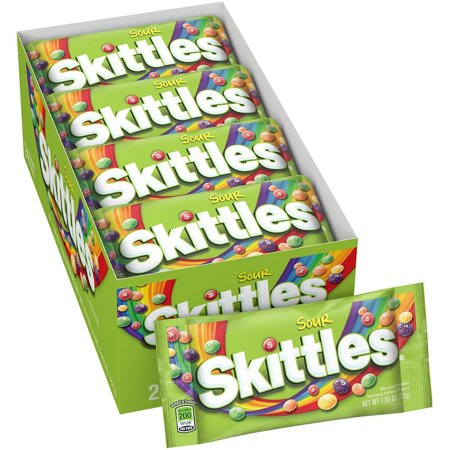 Skittles Sour Singles 1.8 Ounce Packs, 24 Count