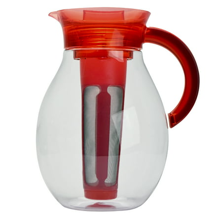 Primula The Big Iced Tea Large Capacity Beverage Pitcher, 1 Gallon, Red