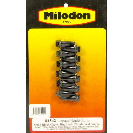 Pontiac Big Block - Milodon 84542 MLD84542 HEADER BOLTS SBC 3/8 X1