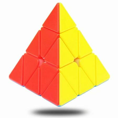 Triangle Magic Cube (Pyramid Cube Stickerless Speed Cube 3x3x3 Pyraminx Rubix Cube Triangle Magic Cube Puzzle)