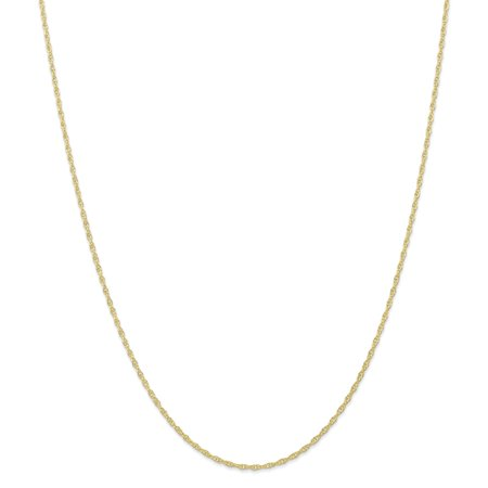 Roy Rose Jewelry 10K Yellow Gold 1.35mm Carded Cable Rope Chain ~ length: 24 inches ()