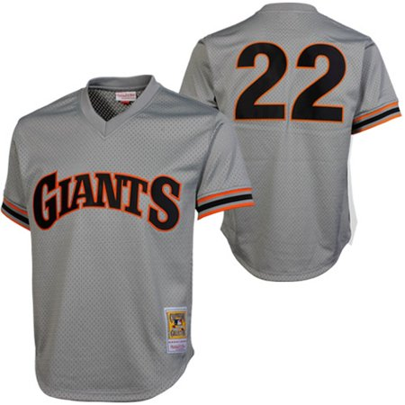 Mitchell & Ness Will Clark San Francisco Giants 1989 Authentic Cooperstown Collection Batting Practice Jersey - Gray ()