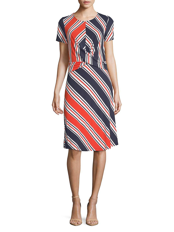 Chevron Striped Shift Dress