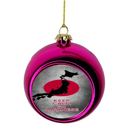 Japanese Christmas Tree Ornaments.Keep Calm I M Japanese Flag Japan Bauble Christmas Ornaments Pink Bauble Tree Xmas Balls