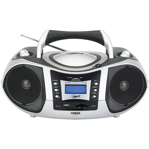 NAXA NPB-250A Portable MP3 & CD Player with AM/FM Radio