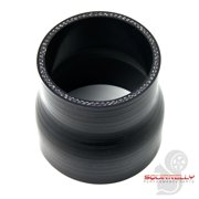 """3.0"""" to 2.5 inch Silicone Coupler Straight Reducer Hose Intercooler Piping Black"""