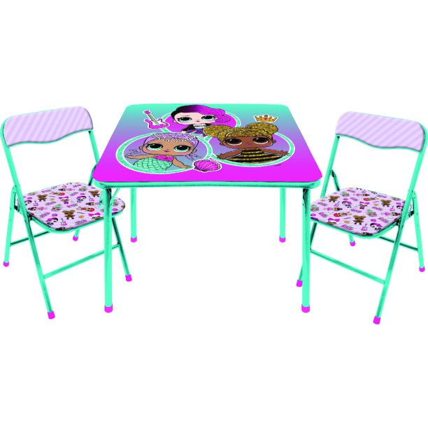 Lol Surprise 3 Piece Kids Table And Chair Set Walmart Com Walmart Com