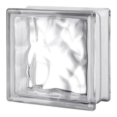 Seves 5002880 8 x 8 x 4 in. Nubio Glass Block - Pack of (Glass Block Price Philippines)