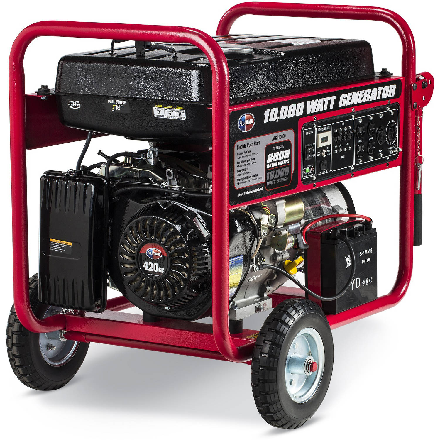 Allpower 10 000W Portable Generator with Electric Start APGG