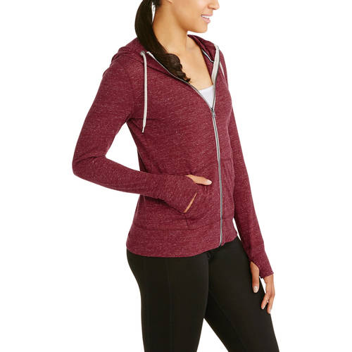 Danskin Now Women's Vintage-Look Full Zip Hoodie