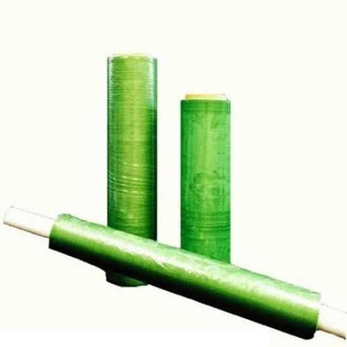 "8 Rolls Green Tint Hi-Perf Stretch Wrap Film 12"" x 1500' x 80 Ga"