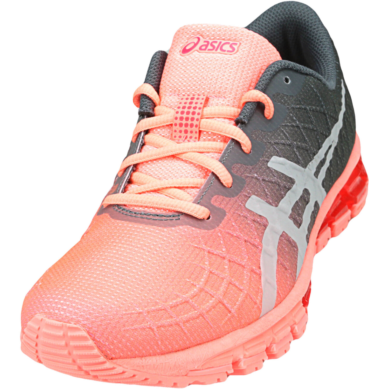 Asics Women's Gel-Quantum 180 4 Sun Coral / Carrier Grey Ankle-High Running - 8.5M