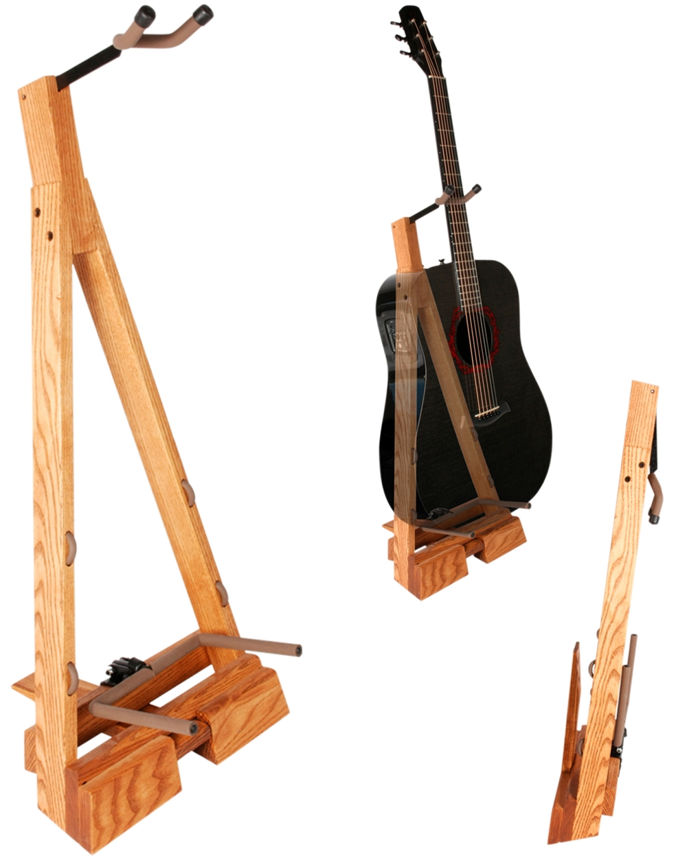 String Swing Guitar Hardwood Floor Stand by String Swing