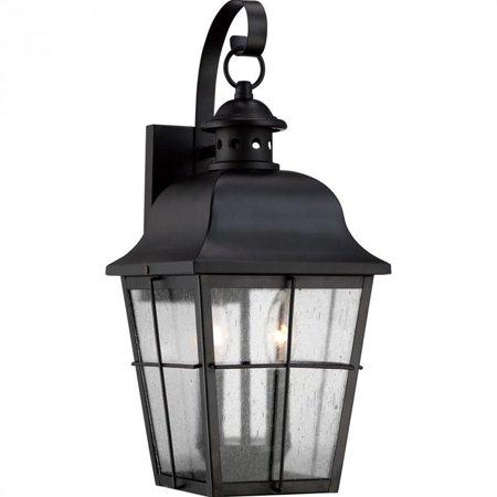 Quoizel Millhouse Medium Wall Lantern in Mystic Black - image 2 de 2