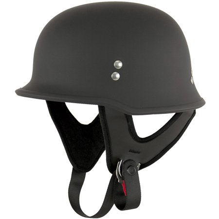 Outlaw T-75 German Style Flat Black Half Helmet