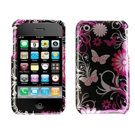 Design Crystal Hard Case for iPhone 3G / 3GS - Pink Butterfly