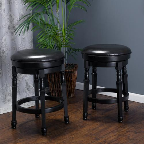 Christopher Knight Home Paxx Bonded 26-inch Leather Swivel Counter Stool (Set of 2) by