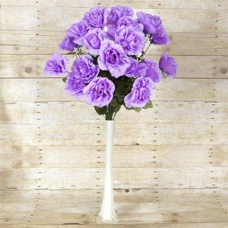 Efavormart 96 GIANT OPEN ROSE Bush Artificial Flowers for DIY Wedding Bouquets Centerpieces Arrangements Wholesale - 18 colors (Tri Color Gold Plumeria Flower)