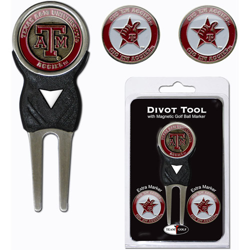 Team Golf NCAA Texas A And M Divot Tool Pack With 3 Golf Ball Markers