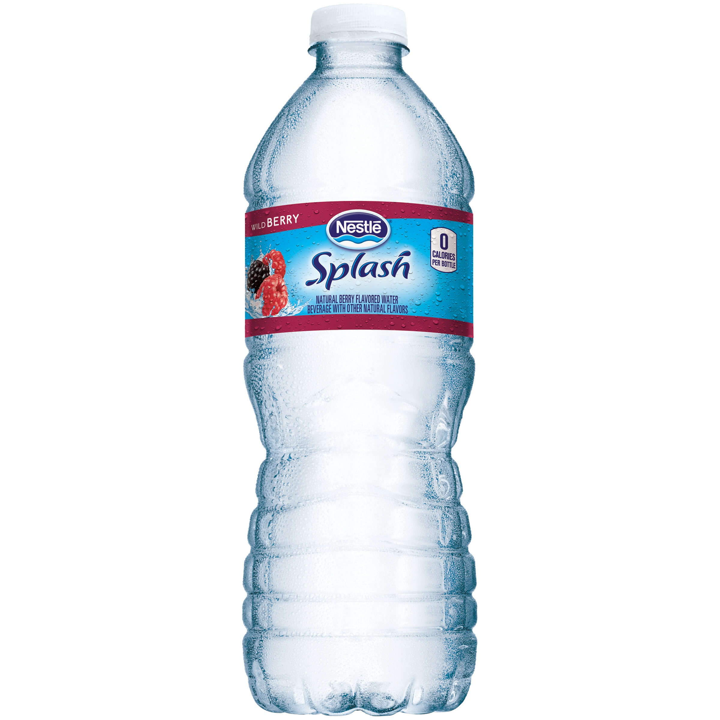 NESTLE SPLASH Water Beverages With Natural Fruit Flavors, Wild Berry 16.9-ounce plastic bottles (Pack of 24)