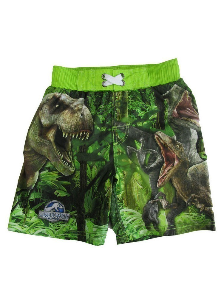 Jurassic World Boys Green Swim Shorts