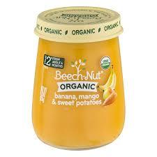 Beech-Nut Organic Stage 2 Purees - Banana, Mango & Sweet Potatoes - (Pack of 2)