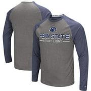 Penn State Nittany Lions Colosseum Big & Tall Ultra Raglan Long Sleeve T-Shirt - Charcoal