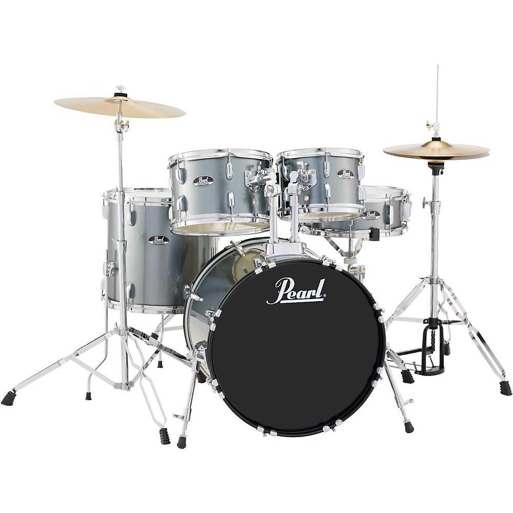 Pearl Roadshow 5-Piece Fusion Drum Set Charcoal Metallic by Pearl