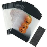 Wilton Halloween Stacked Jack-O'-Lanterns Mini Treat Bags, 20-Count