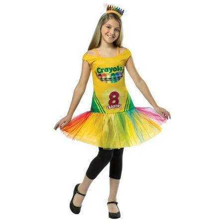Crayola Crayon Box Dress Child Halloween Costume