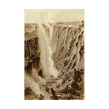 Fall Sale Ends (The Victoria Fall, Zambesi, from the East End of the Chasm Print Wall Art By Thomas)