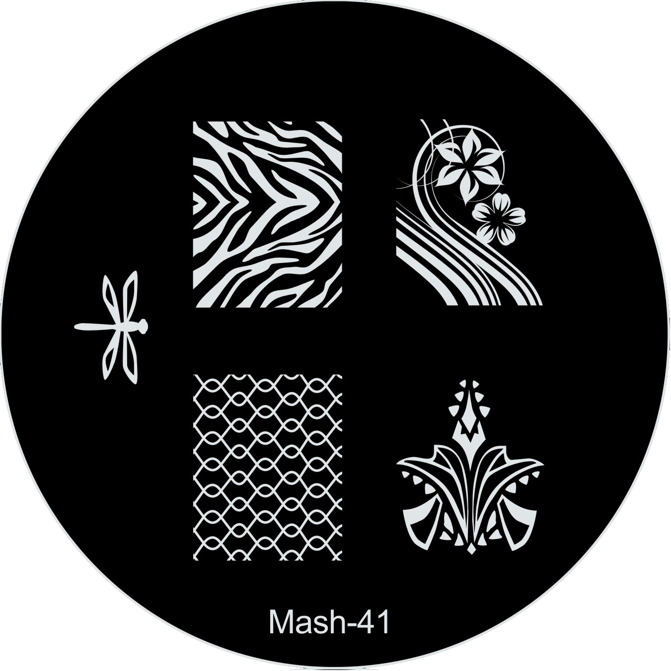 MASH Nail Art Stamp Stamping Image Plate No 41