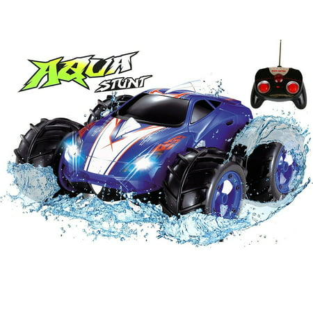 Remote Control Cars >> Click N Play Land Water Amphibious Rc Remote Control Car 200 Ft Range Blue