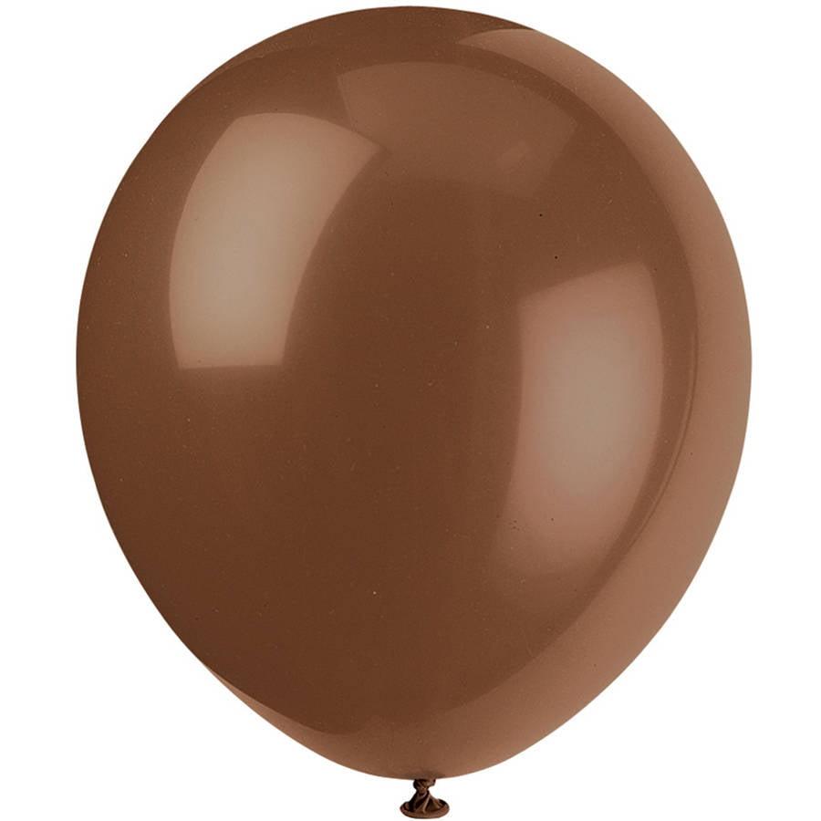 "12"" Latex Brown Balloons, 10ct"