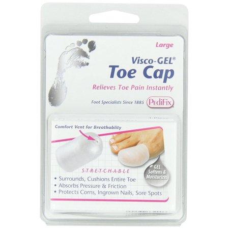 Pedifix P80 Visco Gel Toe Cap - Distal Padding Adds Toe Tip Protection,