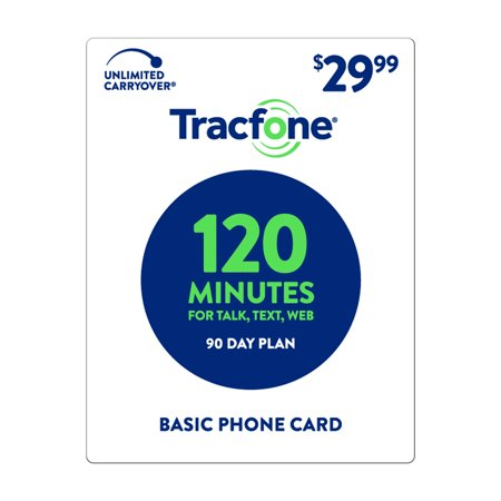TracFone $29.99 Basic Phone 120 Minutes Plan (Email Delivery) (Tracfone Airtime Cards)