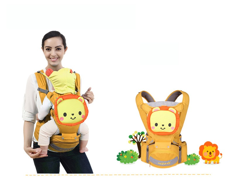 Ergonomic Baby Sling Multifunction Breathable Baby Backpacks Adjustable Bags Pouch Cartoon Kangaroo Baby Wrap by VirtualStoreUSA.com