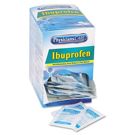 PhysiciansCare Ibuprofène Analgésique, paquet de deux, 125 Packs / Box