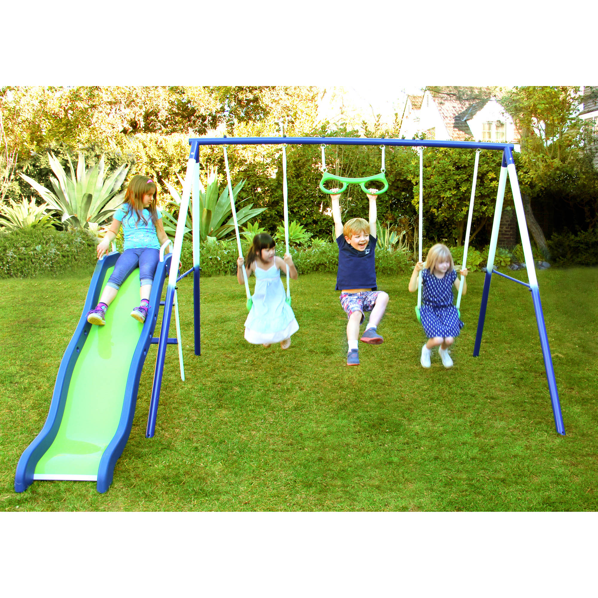 Sportspower Sierra Vista Metal Swing and Slide Set Walmart